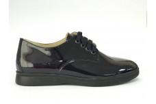 Женские синие лаковые туфли Арт. 070-02л