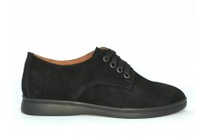 Женские черные замшевые туфли Арт. 070-96