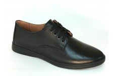Женские черные кожаные туфли Арт. 070-01
