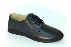 Женские синие кожаные туфли Арт. 070-02
