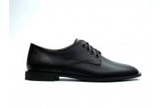 Женские черные кожаные туфли Арт. 081-01