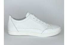 Женские белые кожаные туфли Арт. 090-05