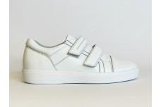 Белые кожаные кеды для подростка Арт. 1230-005