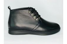 Женские черные кожаные ботинки Арт. 1233-01