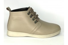 Женские бежевые кожаные ботинки Арт. 1233-100