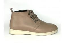 Женские бежевые кожаные ботинки Арт. 1233-101