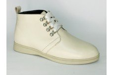 Женские бежевые кожаные ботинки Арт. 1233-04