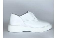 Женские белые кожаные туфли Арт. 1250-05