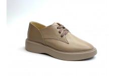 Женские темно бежевые кожаные туфли Арт. 1250-100