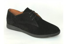 Женские черные замшевые туфли Арт. 1250-96