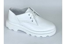 Женские белые кожаные туфли Арт. 1250-05-1