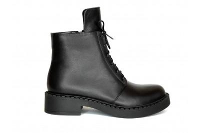 Женские черные ботинки из натуральной кожи Арт. 1258-01-1