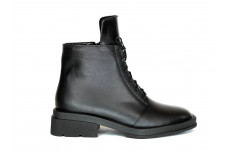 Женские черные ботинки из натуральной кожи Арт. 1258-01-2