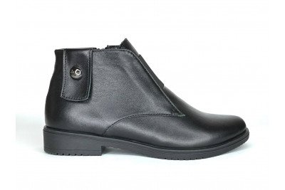Женские черные ботинки из натуральной кожи Арт. 1270-01