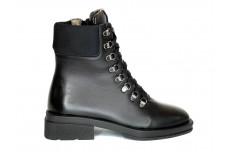 Женские черные ботинки из натуральной кожи Арт. 1326-01