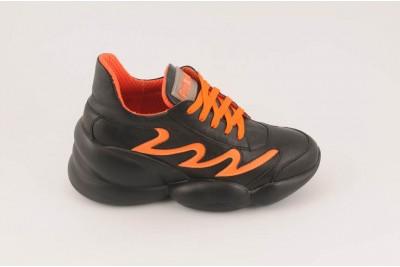 Женские черные кроссовки Арт. 1370-01-20-1