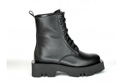 Женские черные ботинки из натуральной кожи Арт. 1371-01-1