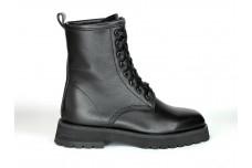 Женские черные ботинки из натуральной кожи Арт. 1371-01