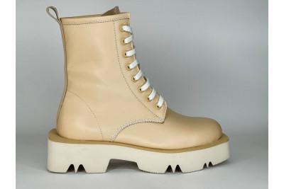 Женские бежевые ботинки из натуральной кожи Арт. 1371-90-1