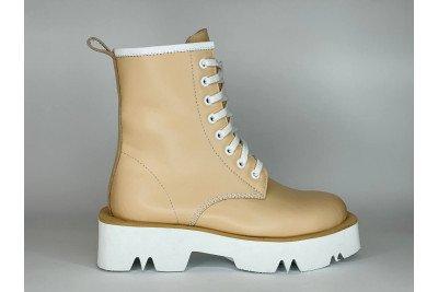 Женские бежевые ботинки из натуральной кожи Арт. 1371-90
