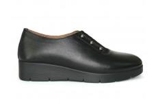 Женские черные кожаные туфли Арт. 1384-01
