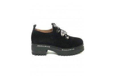 Женские черные замшевые туфли Арт. 1777-01ч