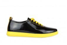 Кеды М-1948 черно-желтый лак