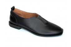 Женские черные кожаные туфли Арт. 2005-01-1