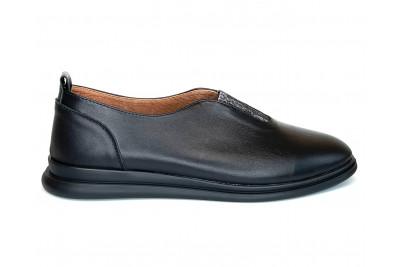 Женские черные кожаные туфли Арт. 2005-01