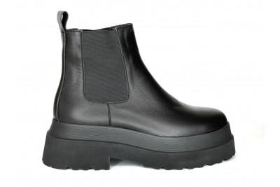 Женские черные ботинки из натуральной кожи Арт. 2025-01-1