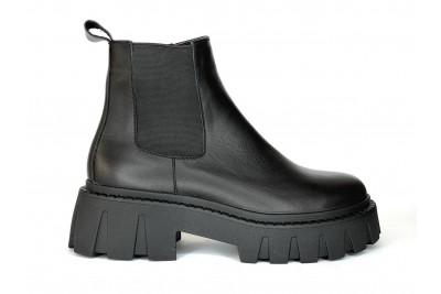 Женские черные ботинки из натуральной кожи Арт. 2025-01-2