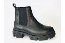 Женские черные кожаные ботинки Арт. 2025-01