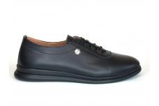 Женские черные кожаные кеды Арт. 2027-01-1