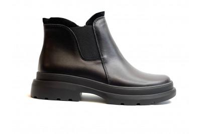Женские черные ботинки из натуральной кожи Арт. 2071-01-1
