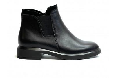 Женские черные ботинки из натуральной кожи Арт. 2071-01