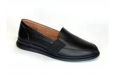 Женские черные кожаные туфли Арт. 2088-01