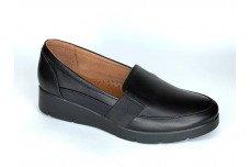 Женские черные кожаные туфли Арт. 2088-01-1