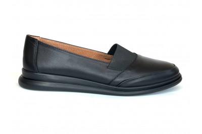 Женские черные кожаные туфли Арт. 2116-1-1