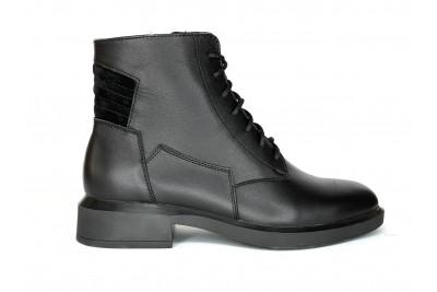 Женские черные ботинки из натуральной кожи Арт. 2121-01