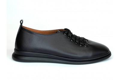 Женские черные кожаные туфли Арт. 2281-01