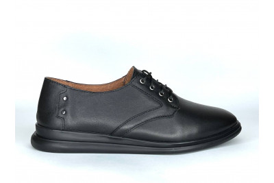 Женские черные кожаные туфли Арт. 2282-01