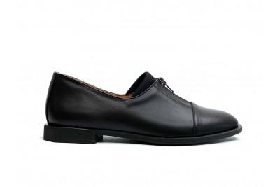 Женские черные кожаные туфли Арт. 2285-01-1