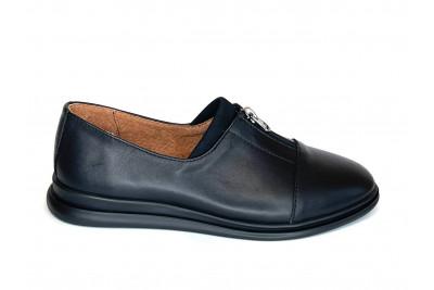 Женские черные кожаные туфли Арт. 2285-01