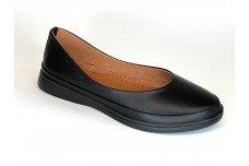Женские черные кожаные туфли Арт. 230-01