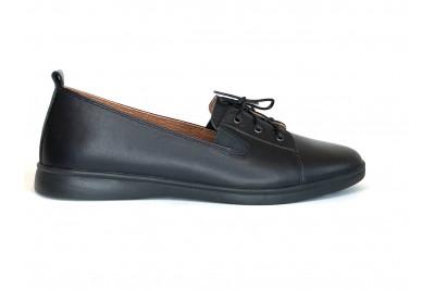 Женские черные кожаные туфли Арт. 2525-01