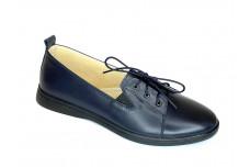 Женские синие кожаные туфли Арт. 2525-02