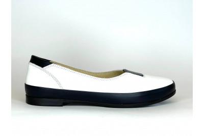 Женские белые кожаные балетки Арт. 308-025