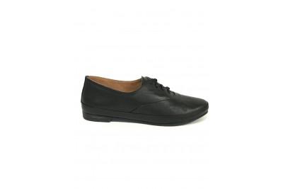 Женские черные кожаные туфли Арт. 342-01