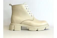 Женские бежевые кожаные ботинки Арт. 355-04