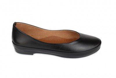 Балетки черные кожаные Арт. 430-01